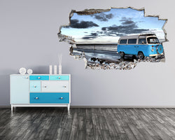 Camper Van Sea Coast Living Room Decal Vinyl Wall Sticker D051