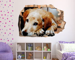 Cute Dog Sleep Girls Bedroom Decal Vinyl Wall Sticker D441