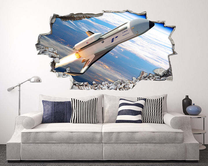 Space Rocket Atmosphere Living Room Decal Vinyl Wall Sticker D503