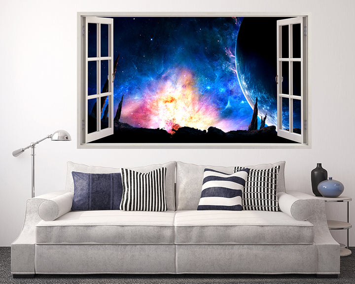 Space Galaxy Colours Living Room Decal Vinyl Wall Sticker D845
