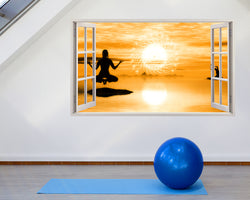 Yoga Meditate Peace Gym Decal Vinyl Wall Sticker D888