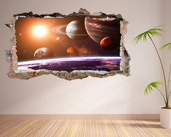 Planets Space Sun Living Room Decal Vinyl Wall Sticker E011