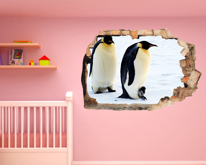 Penguins Baby Snow Nursery Decal Vinyl Wall Sticker F007