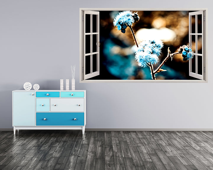 Blue Dandelions Nature Hall Decal Vinyl Wall Sticker F012