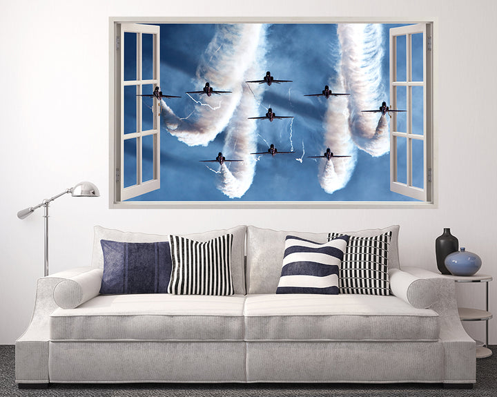 RAF Air Show Spitfires Living Room Decal Vinyl Wall Sticker F014