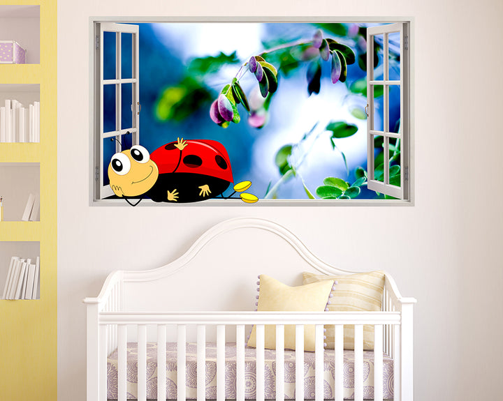 Ladybird Insect Plant Nursery Decal Vinyl Wall Sticker F077