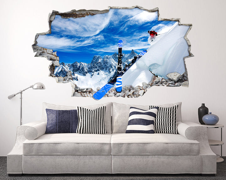 Snow Board Skiing Living Room Decal Vinyl Wall Sticker F088