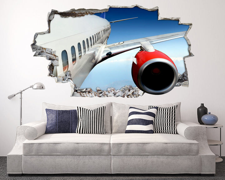 Aeroplane Flight Sky Living Room Decal Vinyl Wall Sticker F097