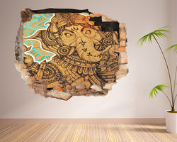 Ganesh Elephant God Living Room Decal Vinyl Wall Sticker F284