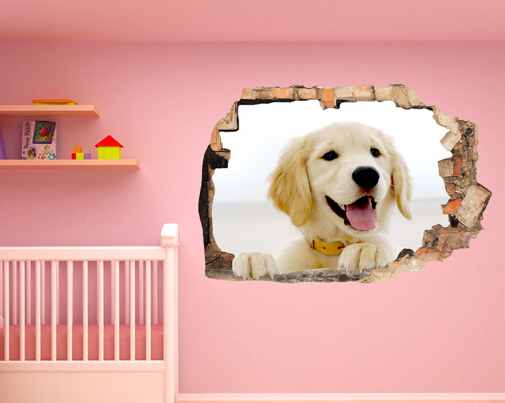 Cute Puppy Dog Nursery Decal Vinyl Wall Sticker F308