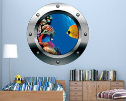 Coral Reef Fish Boys Bedroom Decal Vinyl Wall Sticker F385