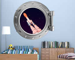 Space Stars Rocket Boys Bedroom Decal Vinyl Wall Sticker F854
