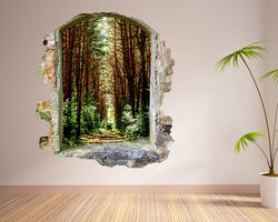 Trees Forest Path Hall Decal Vinyl Wall Sticker G411