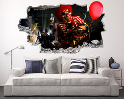 Clowns Horror Balloon Living Room Decal Vinyl Wall Sticker G544