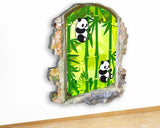 G926 Panda Bamboo Jungle Kids Baby Canvas Picture Poster Wall Art Stickers Room