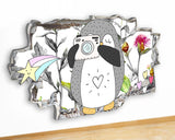 G929 Cute Penguin Camera Kids Baby Canvas Picture Poster Wall Art Stickers Room