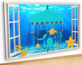 G939 Nursery Mobile Fish Sea Baby Canvas Picture Poster Wall Art Stickers Room