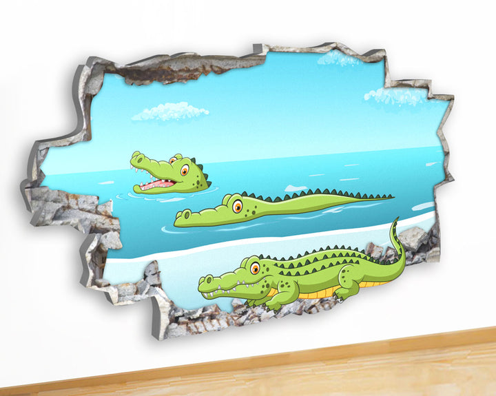 G942 Crocodile Alligator Kids Boys Canvas Picture Poster Wall Art Stickers Room