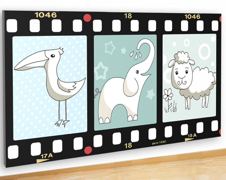 G943 Baby Boy Nursery Sheep Bird Canvas Picture Poster Wall Art 3D Stickers Room