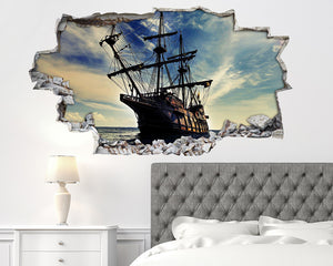 Pirate Ship Sea Bedroom Decal Vinyl Wall Sticker H111