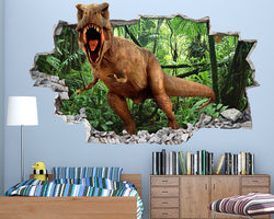 Scary Dinosaur Teeth Boys Bedroom Decal Vinyl Wall Sticker H173