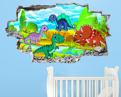 Cartoon Dinosaurs Land Nursery Decal Vinyl Wall Sticker H230