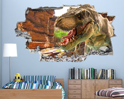 Cool T-Rex Dinosaur Boys Bedroom Decal Vinyl Wall Sticker H231