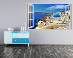 Santorini Greece Travel Hall Decal Vinyl Wall Sticker H313w