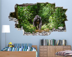 Gorilla Monkey Jungle Boys Bedroom Decal Vinyl Wall Sticker H514