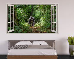 Gorilla Monkey Jungle Bedroom Decal Vinyl Wall Sticker H514w