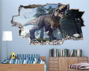 T-Rex Dinosaur Trees Boys Bedroom Decal Vinyl Wall Sticker H613