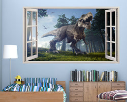 T-Rex Dinosaur Trees Boys Bedroom Decal Vinyl Wall Sticker H613w