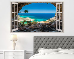 Scenic Coast Sea Bedroom Decal Vinyl Wall Sticker H673w