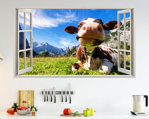 Scenic Cow Field Kitchen Decal Vinyl Wall Sticker H779w