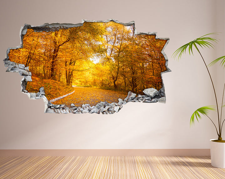 Autumn Forest Trees Living Room Decal Vinyl Wall Sticker H835