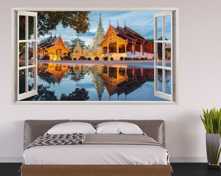 Building Reflections Bedroom Decal Vinyl Wall Sticker H883w