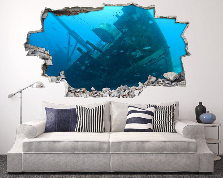Sea Shipwreck Living Room Decal Vinyl Wall Sticker H885