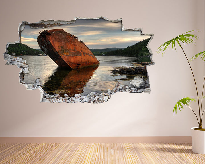 Abandoned Boat Hall Decal Vinyl Wall Sticker H886