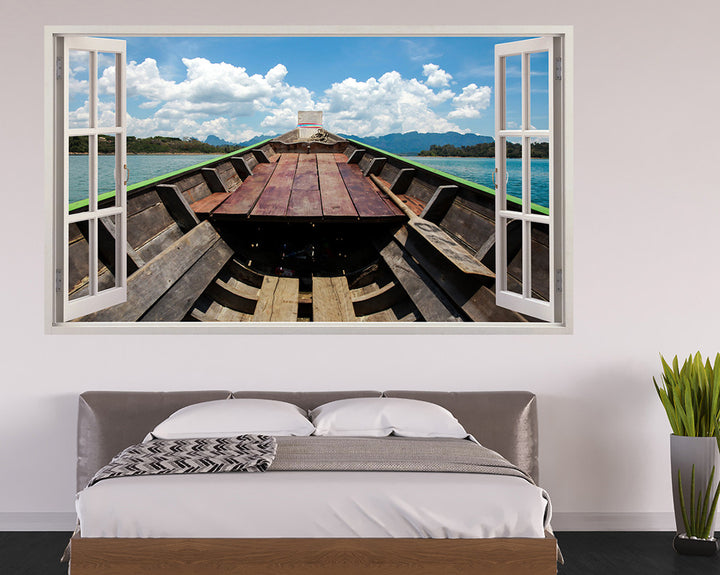 Boat Interior Lake Bedroom Decal Vinyl Wall Sticker H896w