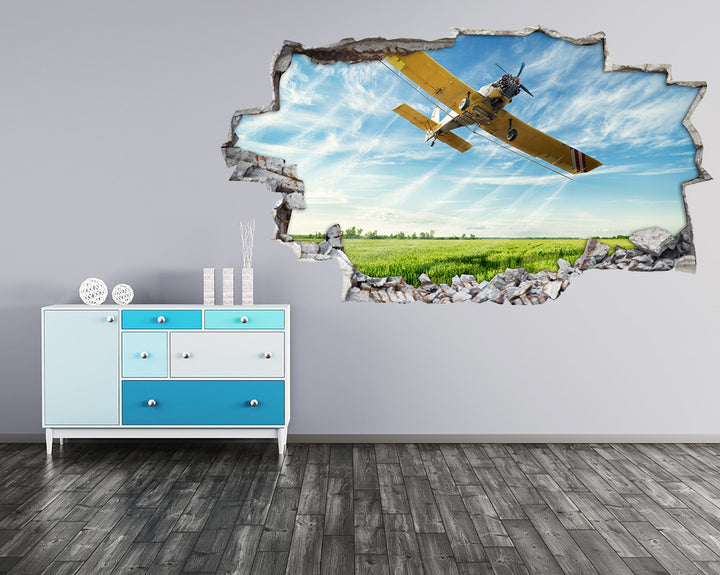 Airplane Field Landing Hall Decal Vinyl Wall Sticker H901