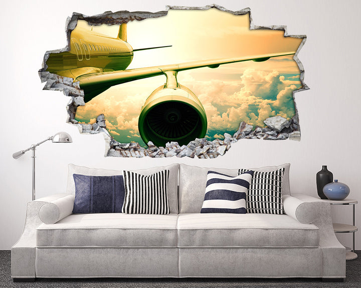 Airplane Engine Living Room Decal Vinyl Wall Sticker H902