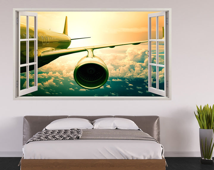 Airplane Engine Bedroom Decal Vinyl Wall Sticker H902w
