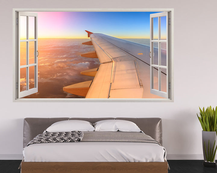 Airplane Wing Bedroom Decal Vinyl Wall Sticker H904w