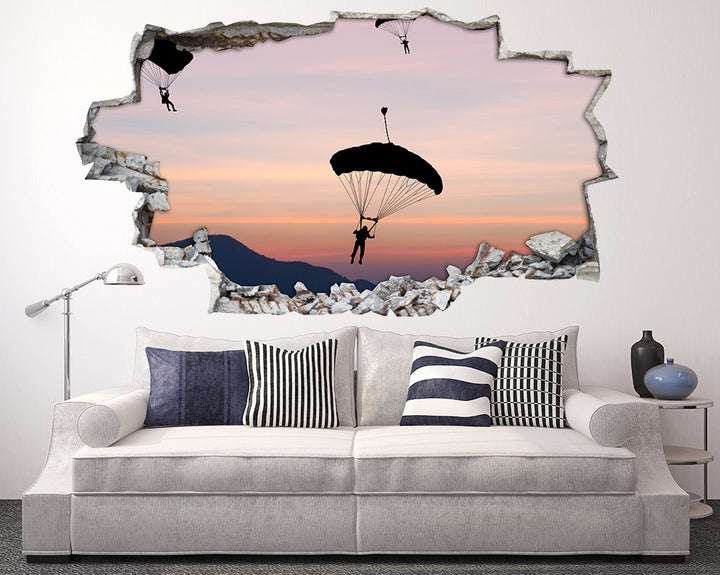 Scenic Paragliding Living Room Decal Vinyl Wall Sticker H912