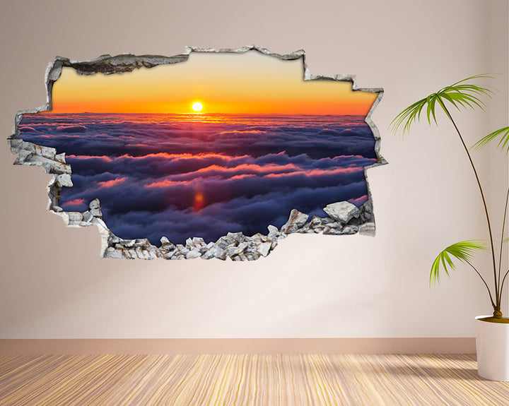 Clouds Sunset Sky Living Room Decal Vinyl Wall Sticker H920