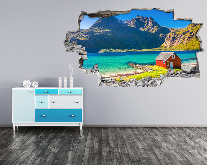 Lake Scenic Paradise Hall Decal Vinyl Wall Sticker H926