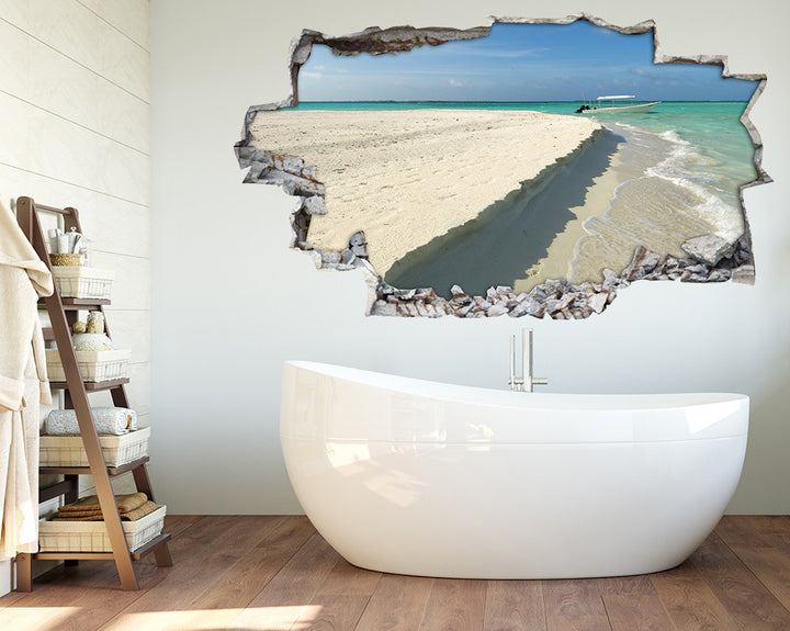 Beach Edge Sea Bathroom Decal Vinyl Wall Sticker H928