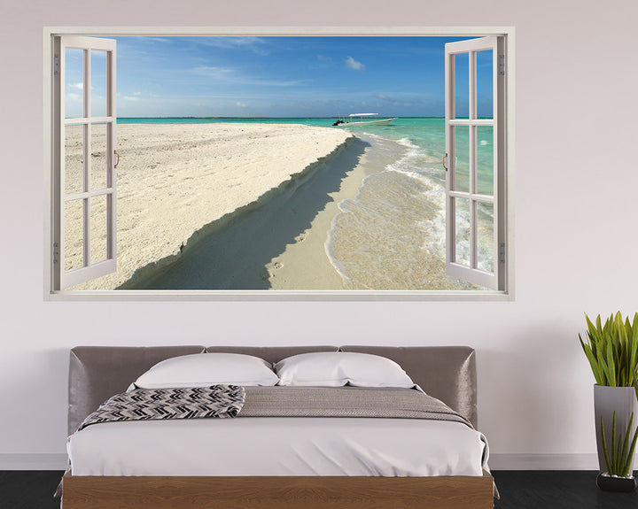 Beach Edge Sea Bedroom Decal Vinyl Wall Sticker H928w