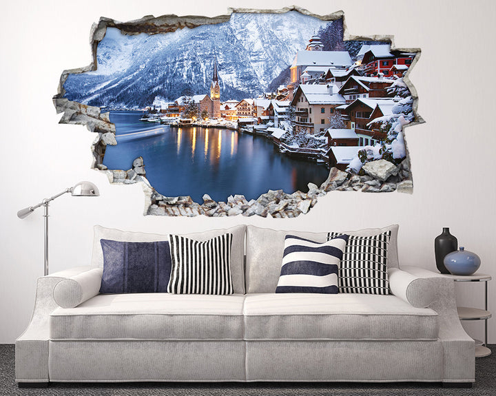 Mountain Village Austria Living Room Decal Vinyl Wall Sticker H929