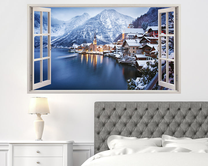 Mountain Village Austria Bedroom Decal Vinyl Wall Sticker H929w